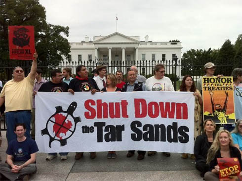 First Nations and American Indian leaders arrested at White House pipeline protest