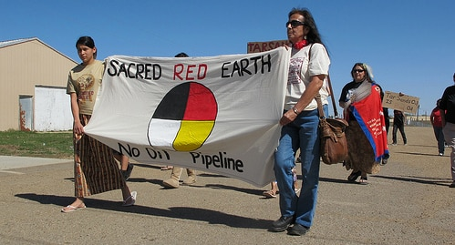 Members of the Lakota Nation in South Dakota have launched a 48-hour hunger strike against the Keystone and Gateway pipelines, in solidarity with the indigenous peoples of British Columbia