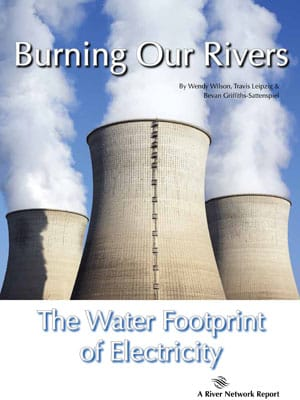 Over half of all of the fresh, surface water withdrawn from the environment in the U.S. today is used by power companies. They take the profits, and society pays the price.