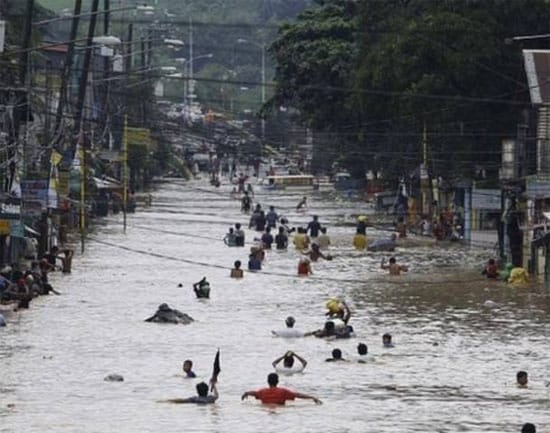 Massive flooding devastates Manila slums .Another painful reminder that the pain caused by climate change is being felt most by the poor and most oppressed.