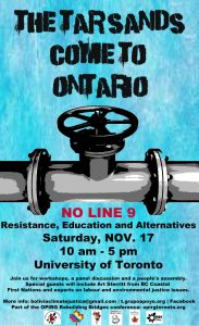 Join me at this important  day of resistance, education, and alternatives in Toronto, November 17