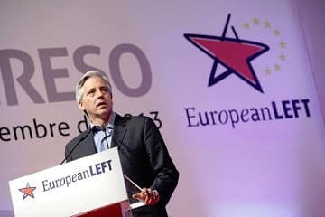Álvaro García Linera at the congress of the European left, December 2013.