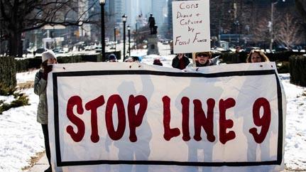 Line 9 banner