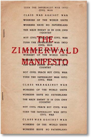 Zimmerwald Manifesto