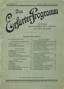 Karl Kautsky's widely-read 1892 commentary on the Erfurt Program