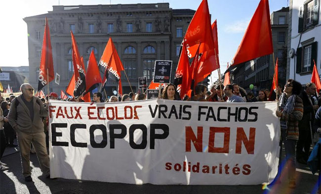 """""""Fake ecologists, real fascists. Ecopop No!"""""""