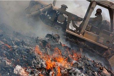 "U.S. military ""burn pit"" in Afghanistan."
