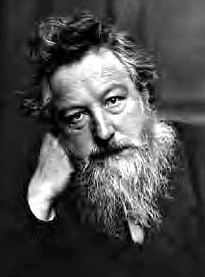 "William Morris: ""Between us and that which is to be ... there is something alive and devouring; something as it were a river of fire that will put all that tries to swim across to a hard proof indeed."""