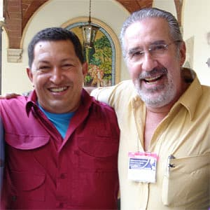 Atilio Boron with Hugo Chavez