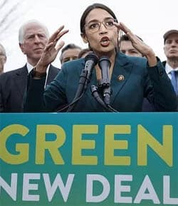 To bring about meaningful change, the resolution proposed by Alexandria Ocasio-Cortez must be part of an ecological revolution with a broad social base.